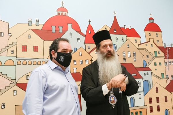 Ο διευθυντής της «ΑΠΟΣΤΟΛΗΣ» Κωστής Δήμτσας και ο Μητροπολίτης Φθιώτιδος Συμεών