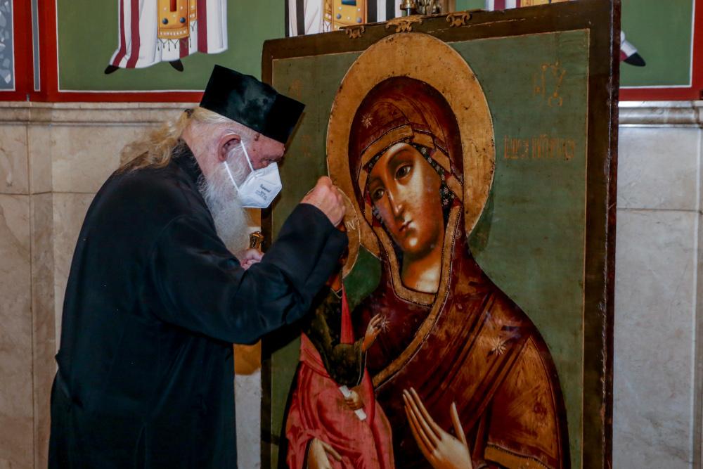 Ο Αρχιεπίσκοπος Ιερώνυμος στην Αρχιεπισκοπή Αθηνών μετά το εξιτήριο από τον Ευαγγελισμό