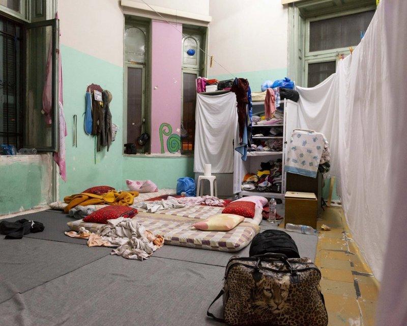 Πώς είχε διαμορφωθεί ο χώρος μέσα στο κτίριο που ήταν υπό κατάληψη στην Αχαρνών