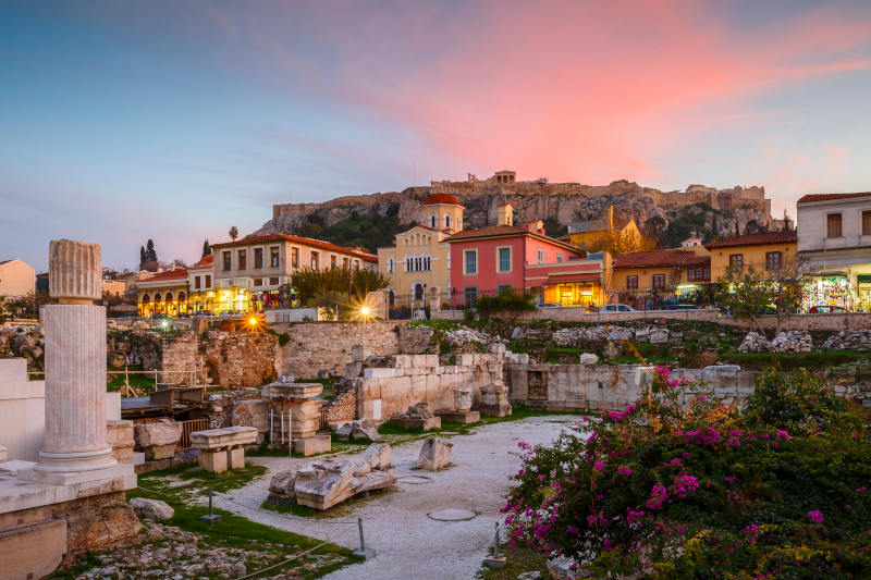 Ηλιοβασίλεμα στην Αθήνα