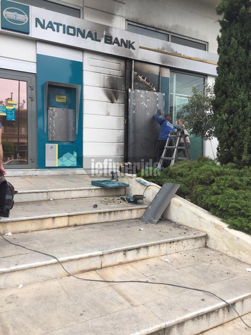 Επισκευή ATM μετά από φωτιά