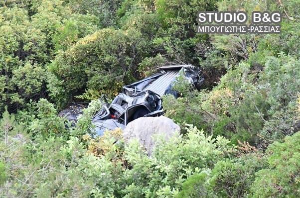 Το αγροτικό όχημα καταστράφηκε ολοσχερώς