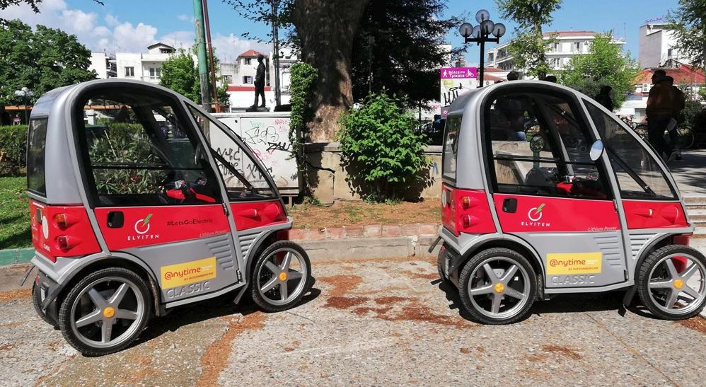Τα δύο ηλεκτροκίνητα αυτοκίνητα στα Τρίκαλα