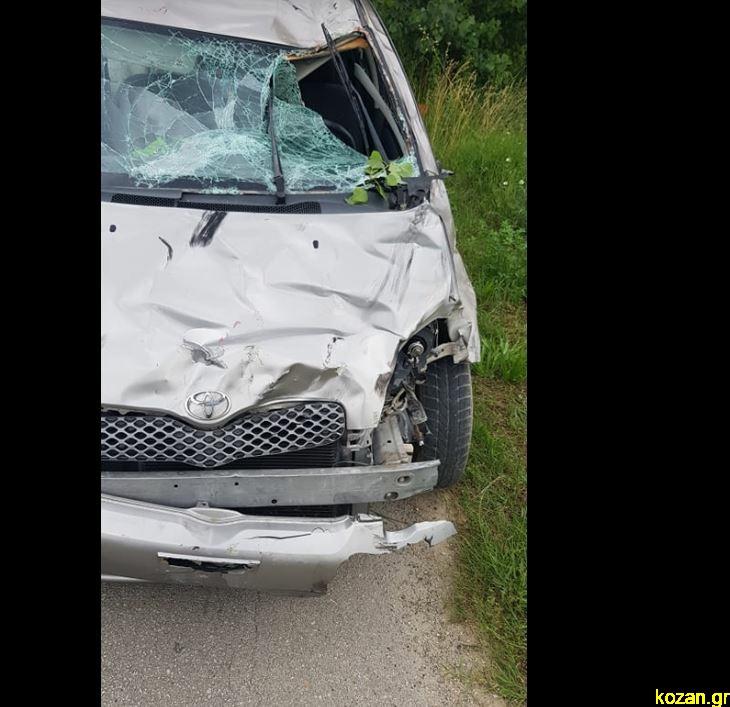 Το αυτοκίνητο της 62χρονης που χτύπησε τους ποδηλάτες στην Πτολεμαΐδα