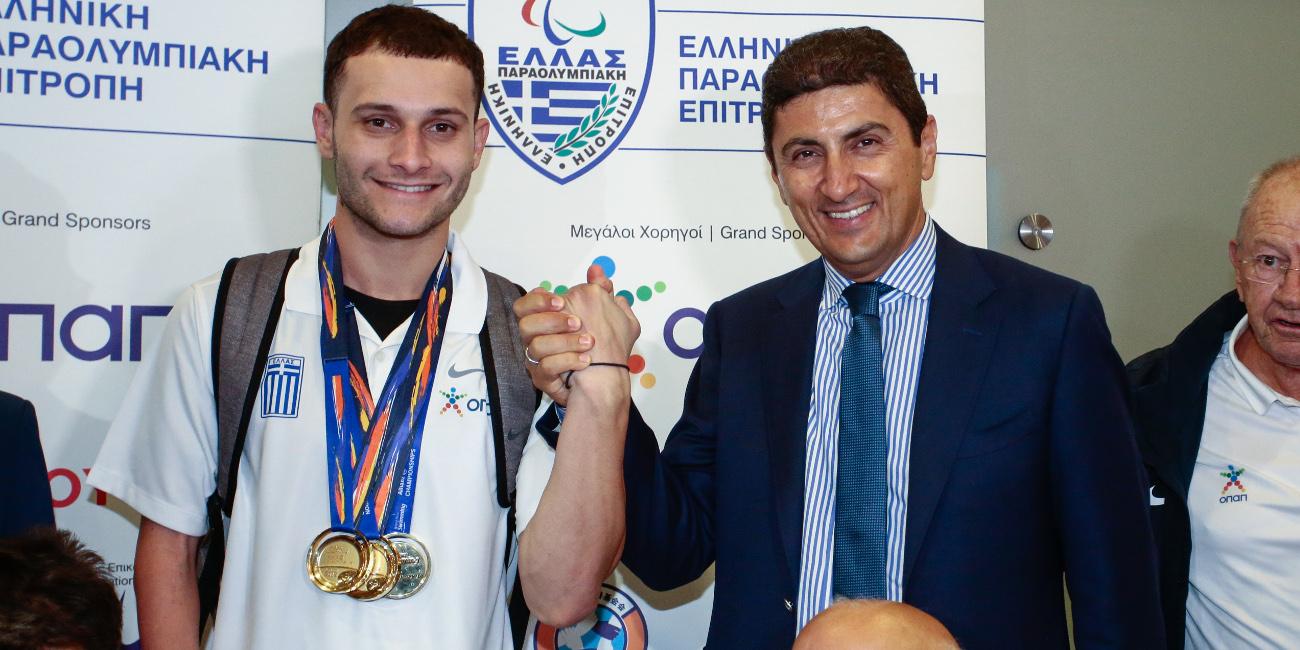Ο Λευτέρης Αυγενάκης υποδέχθηκε την παραολυμπιακή ομάδα κολύμβησης