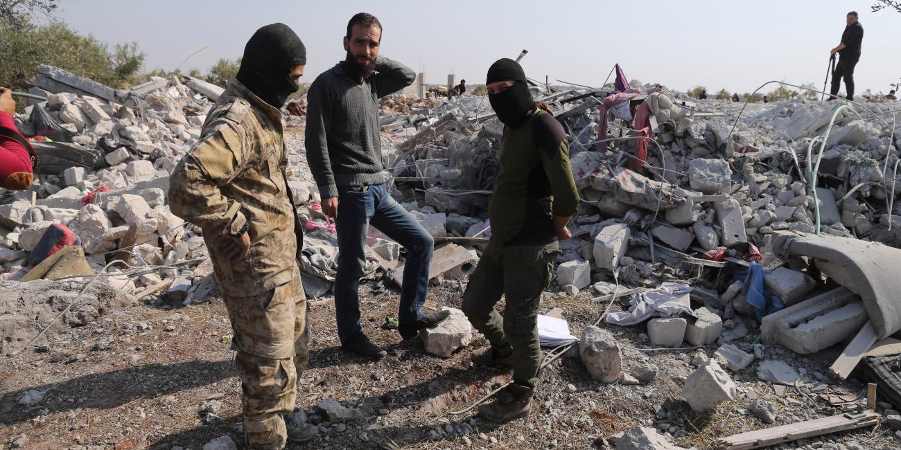 Το σπίτι όπου πιστεύεται ότι σκοτώθηκε ο ηγέτης του Ισλαμικού Κράτους