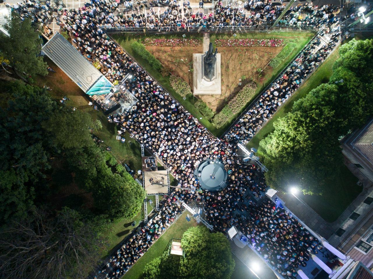 Φωτογραφία από drone της κεντρικής προεκλογικής συγκέντρωσης του Κώστα Μπακογιάννη
