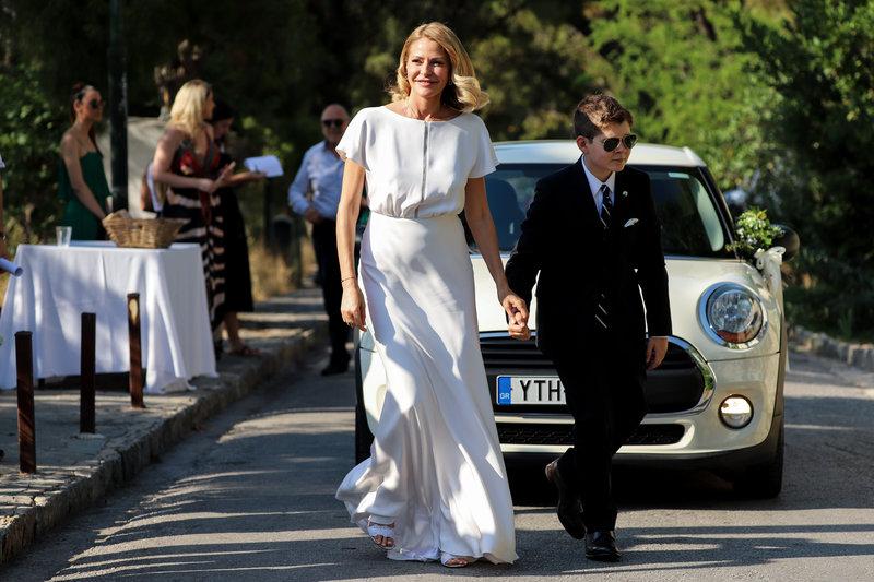 Η Τζένη Μπαλατσινού νύφη με τον γιο της Μάξιμο