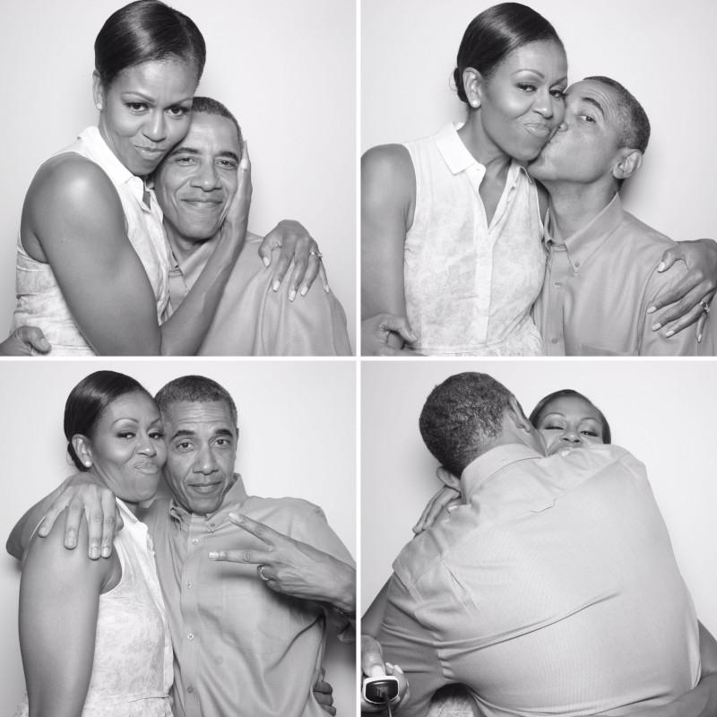Οι φωτογραφίες που έχουν τραβηχτεί σε φωτογραφικό θάλαμο, δείχνουν τον Μπαράκ και την Μισέλ Ομπάμα σε τρυφερές στιγμές/Φωτογραφία: Instagram/Barackobama