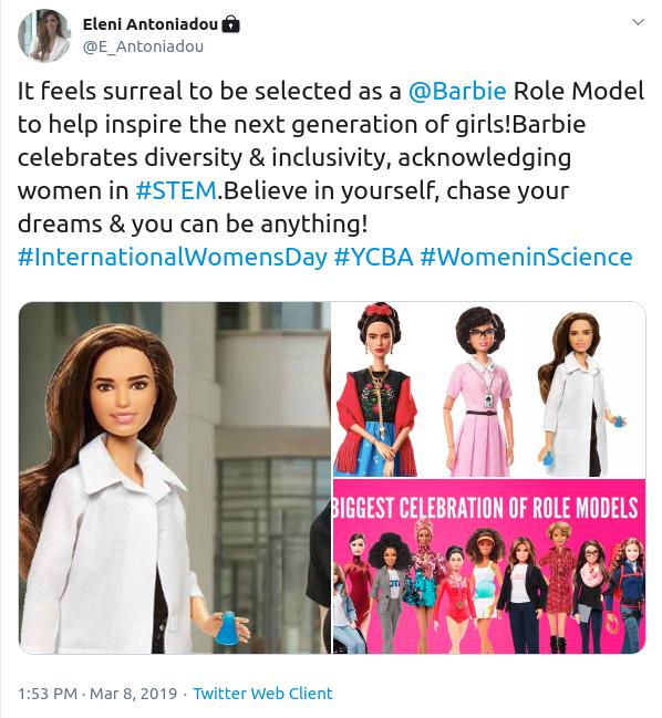 Η ανάρτηση της Ελένης Αντωνιάδου για την δημιουργία κούκλας με το πρόσωπό της από την Barbie