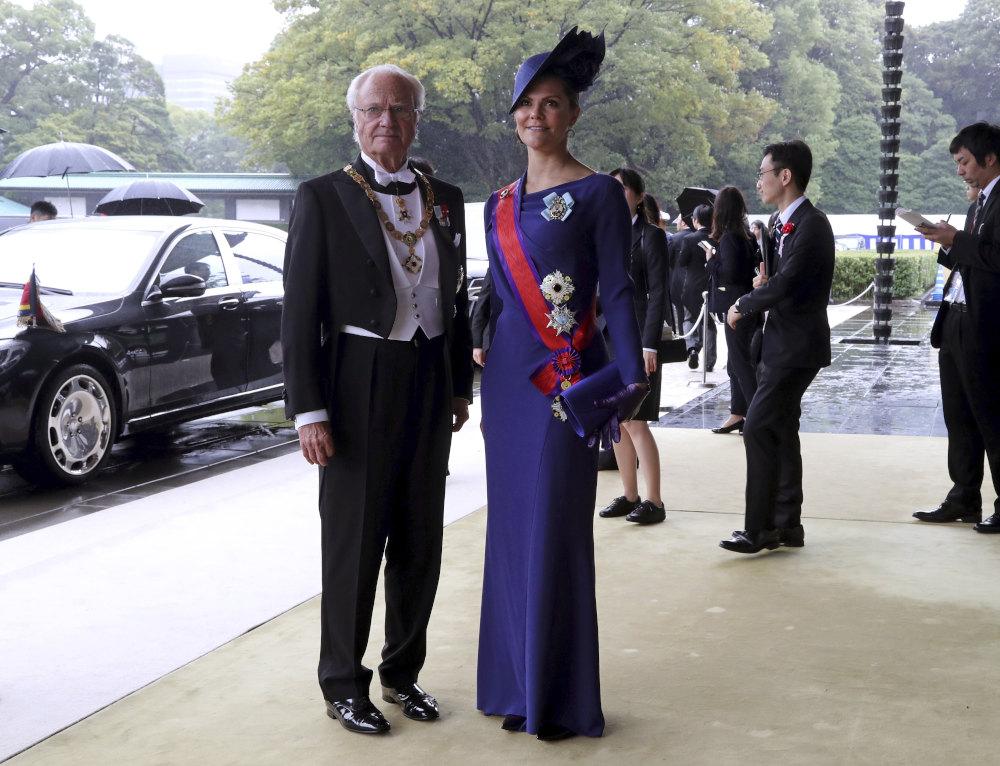 Ο βασιλιάς της Σουηδίας Κάρολος ΙΣΤ Γουσταύος και η πριγκίπισσα του θρόνου Βικτόρια