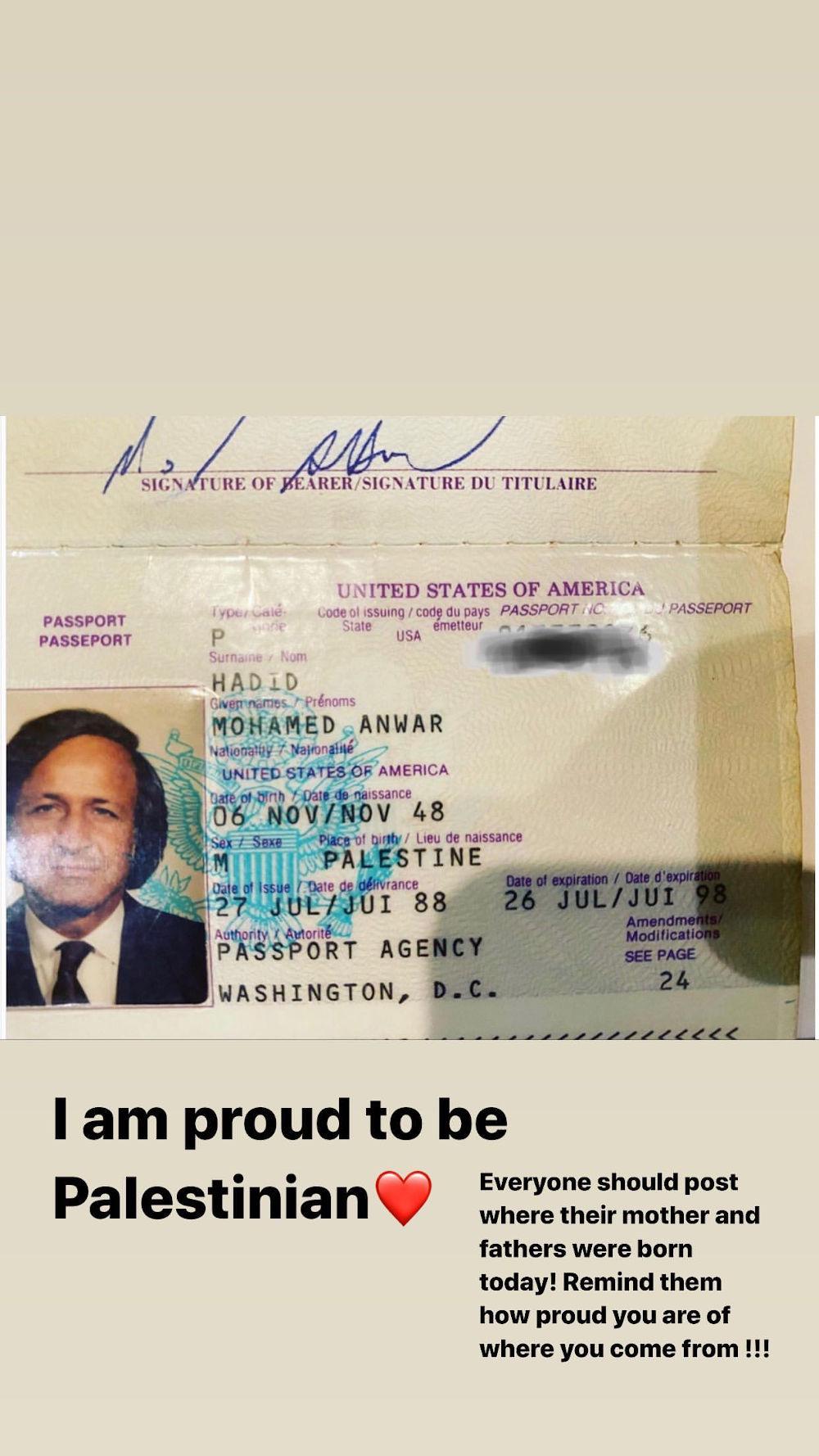 Το διαβατήριο του πατέρα της Μπέλα Χαντίντ που άνοιξε πόλεμο με το Instagram