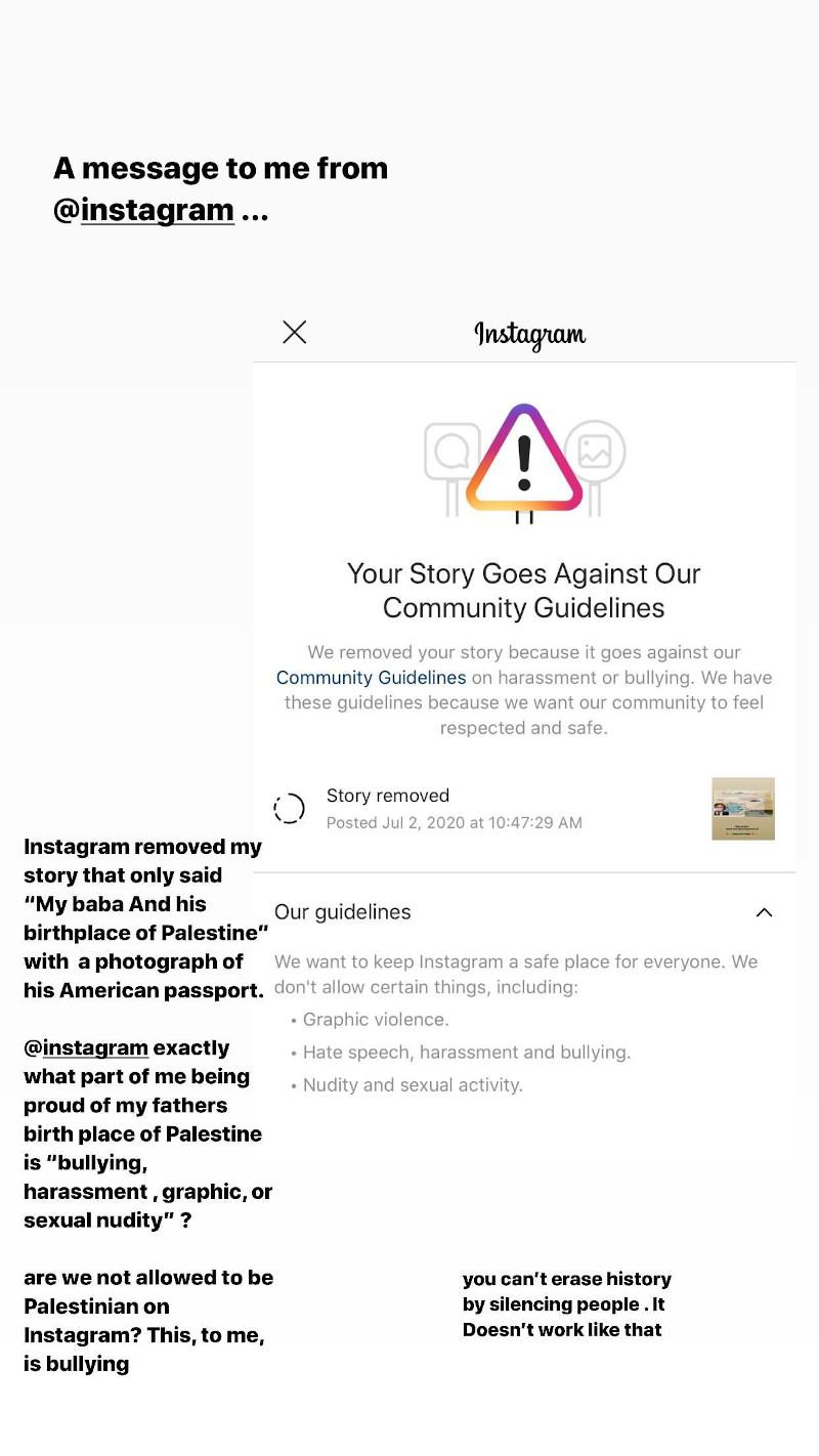 Η ανάρτηση της Μπέλα Χαντίντ για το Instagram