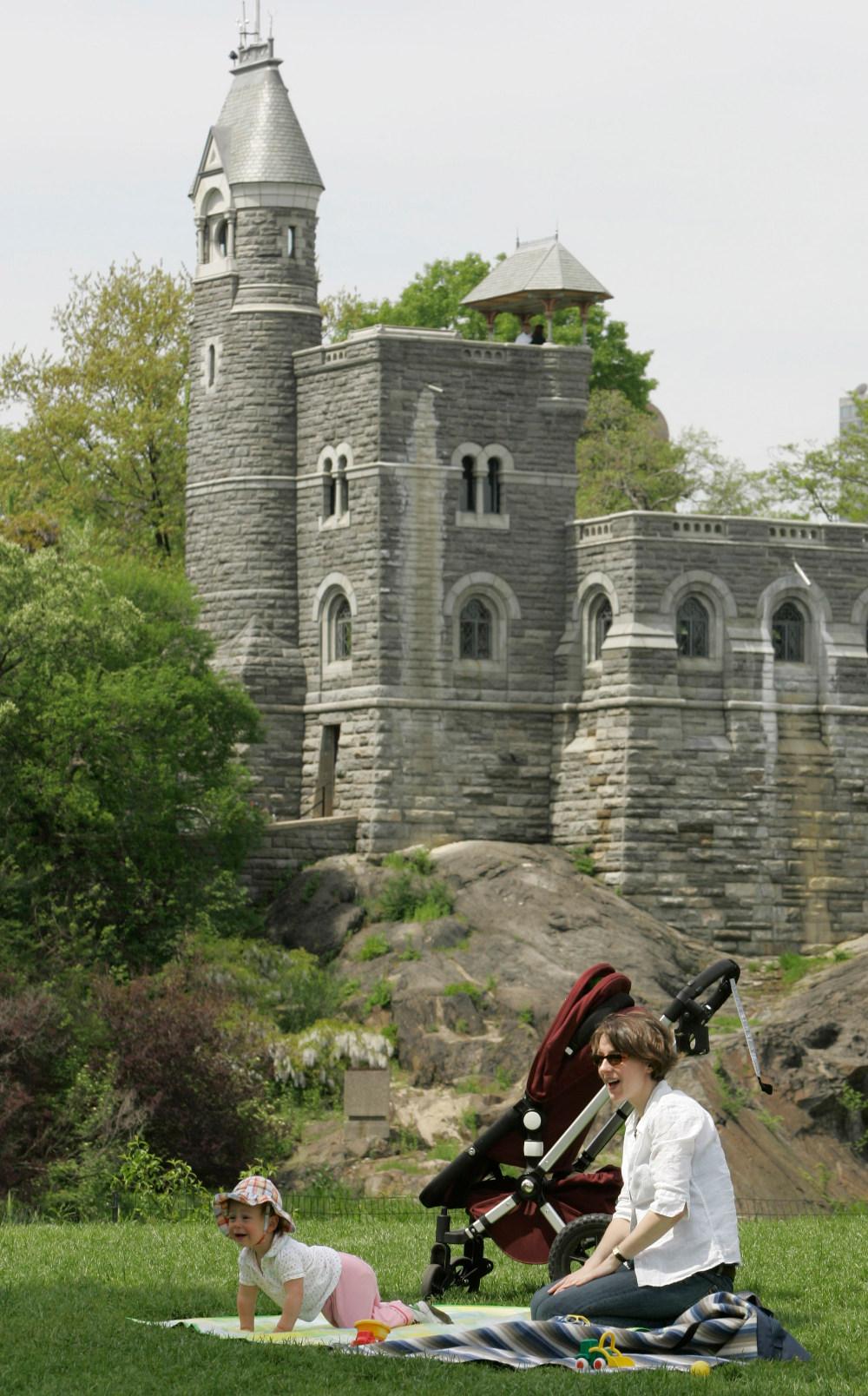 Εικόνα από το  κάστρο Μπελβεντέρ στο Σέντραλ Παρκ της Νέας Υόρκης