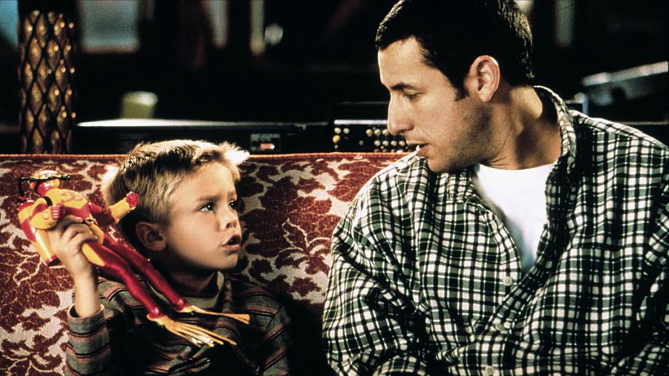 Με τον Ανταμ Σάντλερ στην ταινία «Μπαμπάς κατά λάθος»