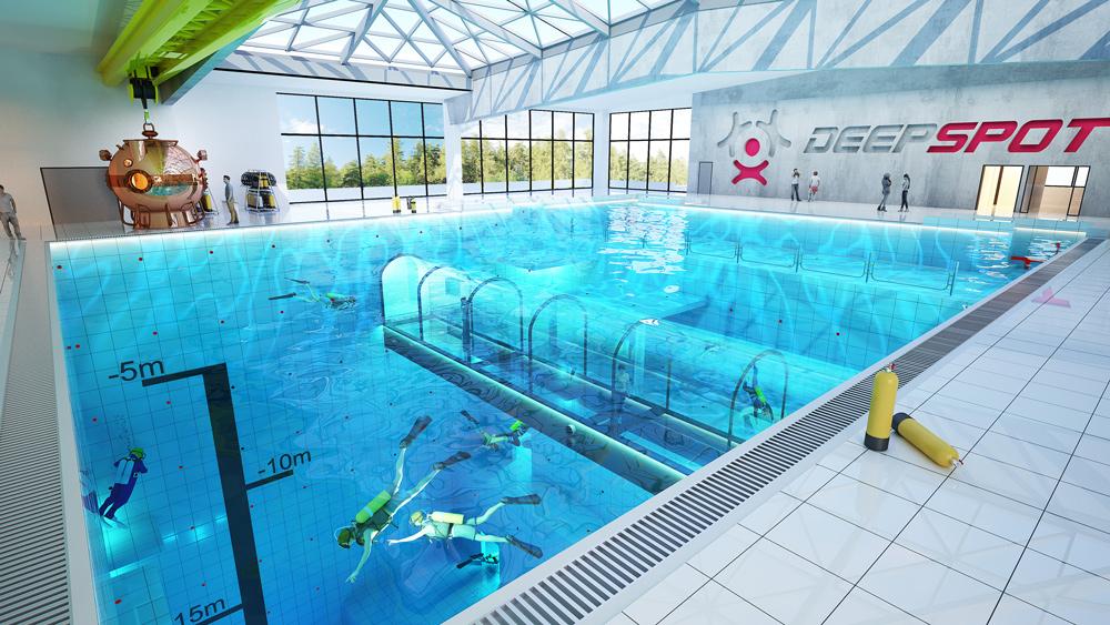 Η τεράστια πισίνα θα ανοίξει στην Πολωνία, θα είναι γεμάτη με υποβρύχια σπήλαια και μπορεί να φτάσει βάθος μέχρι και τα 45 μέτρα.