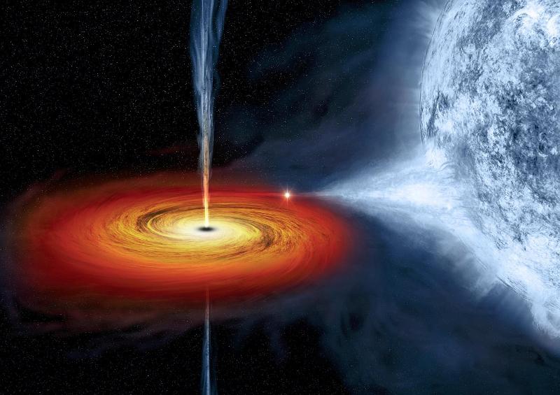 Οι μαύρες τρύπες καταπίνουν αργά ολόκληρα αστέρια, ρουφώντας τα αέριά τους.