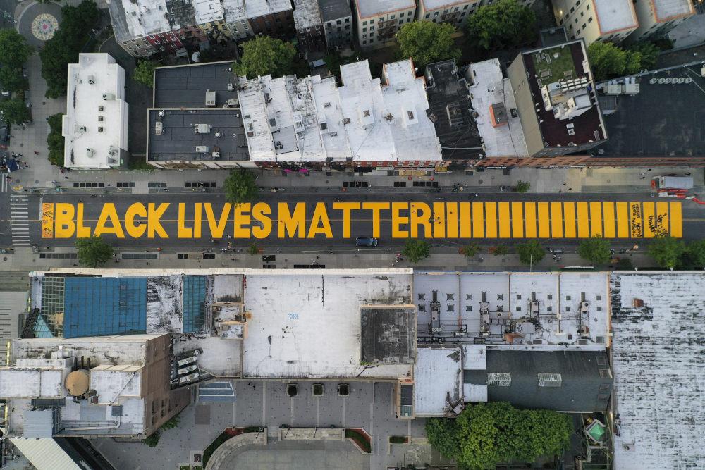 Το μότο του κινήματος Black Lives Matter στην Ουάσιγκτον