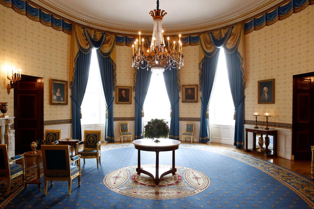 Το επιβλητικό Μπλε Δωμάτιο του Λευκού Οίκου