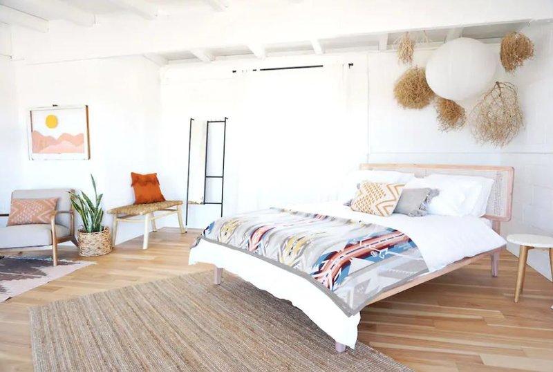 Υπνοδωμάτιο με boho διακόσμηση