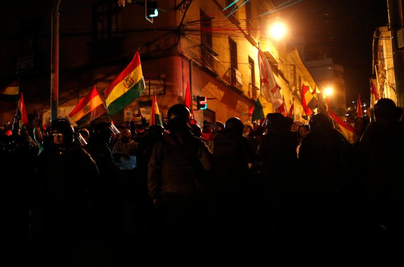 Διαδηλωτές στην Βολιβία