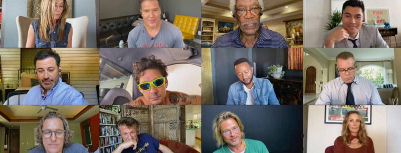 Στην διαδικτυακή ανάγνωση της ταινίας συμμετείχαν πολλοί διάσημοι ηθοποιοί