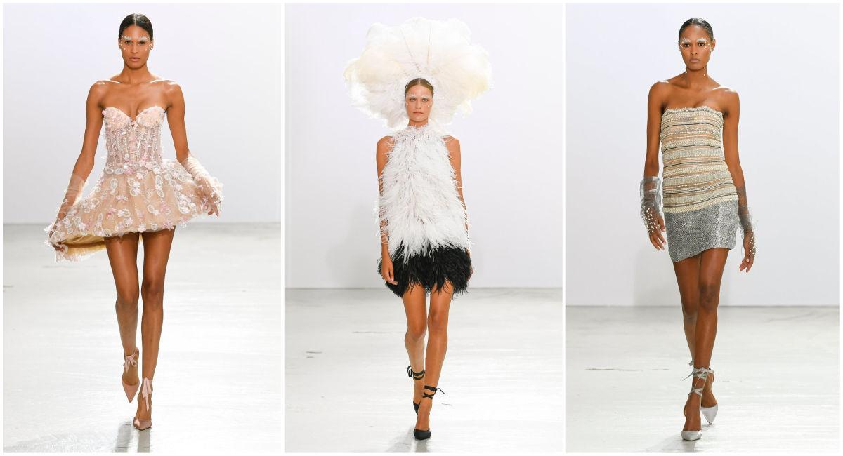 Στο catwalk του ελληνικού οίκου περπάτησαν πασίγνωστα μοντέλα, όπως το αγγελάκι της Victoria's Secret Cindy Bruna