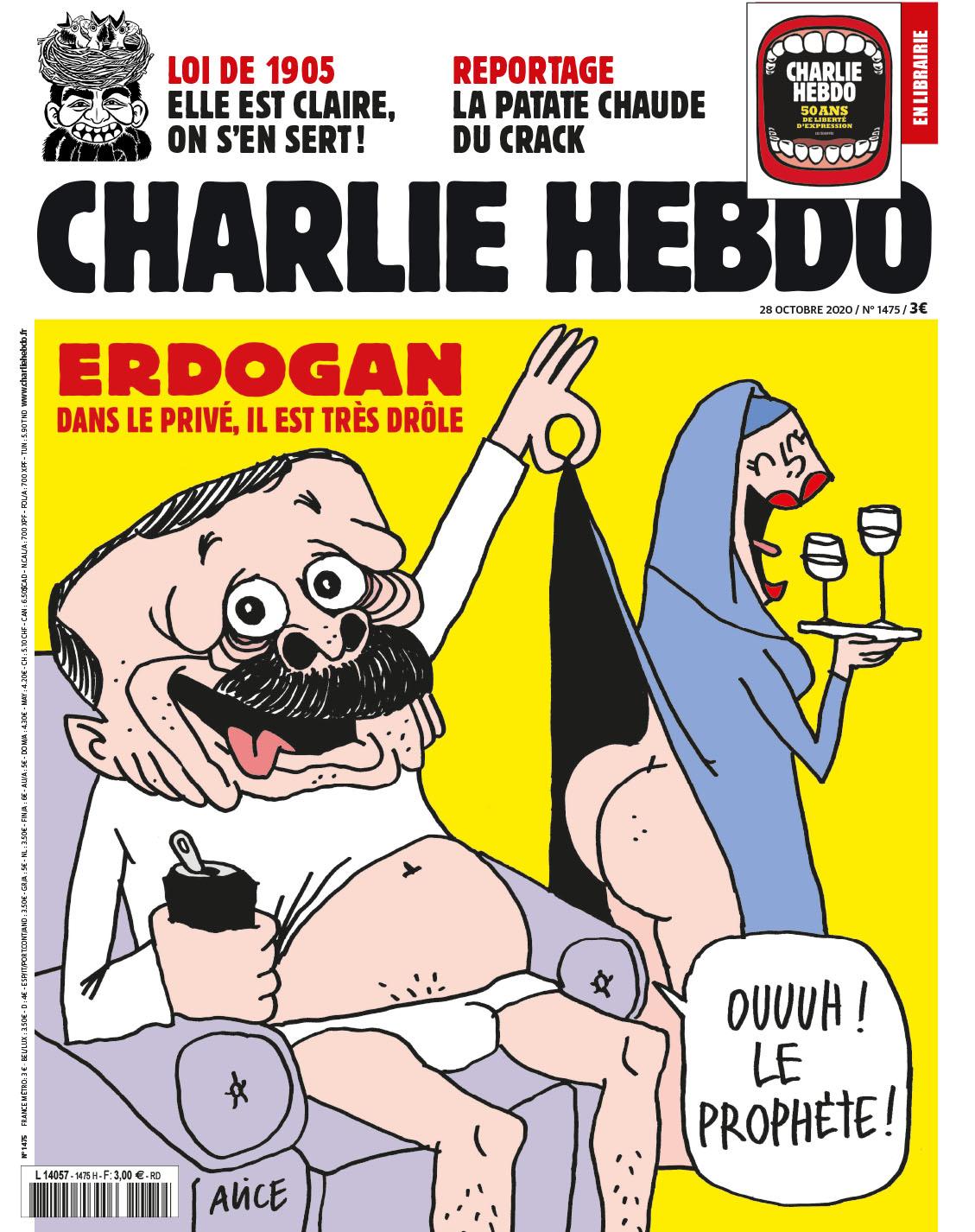 Το νέο πρωτοσέλιδο του Charlie Hebdo με τον Ρετζέπ Ταγίπ Ερντογάν
