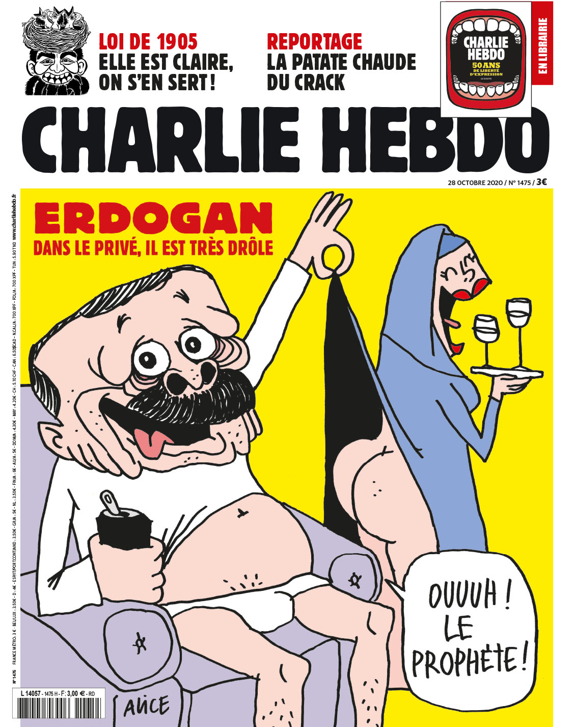 Το νέο πρωτοσέλιδο του «Charlie Hebdo» με τον Ρετζέπ Ταγίπ Ερντογάν