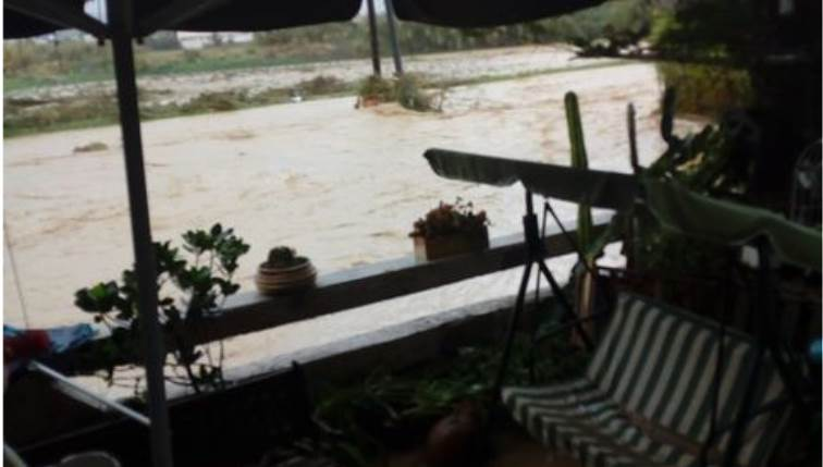 Χερσόνησος κακοκαιρία πλημμύρες
