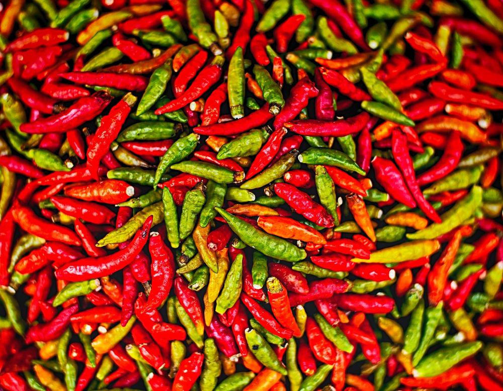καυτερές πιπεριές
