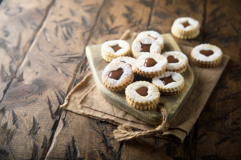 διπλά χριστουγεννιάτικα μπισκότα