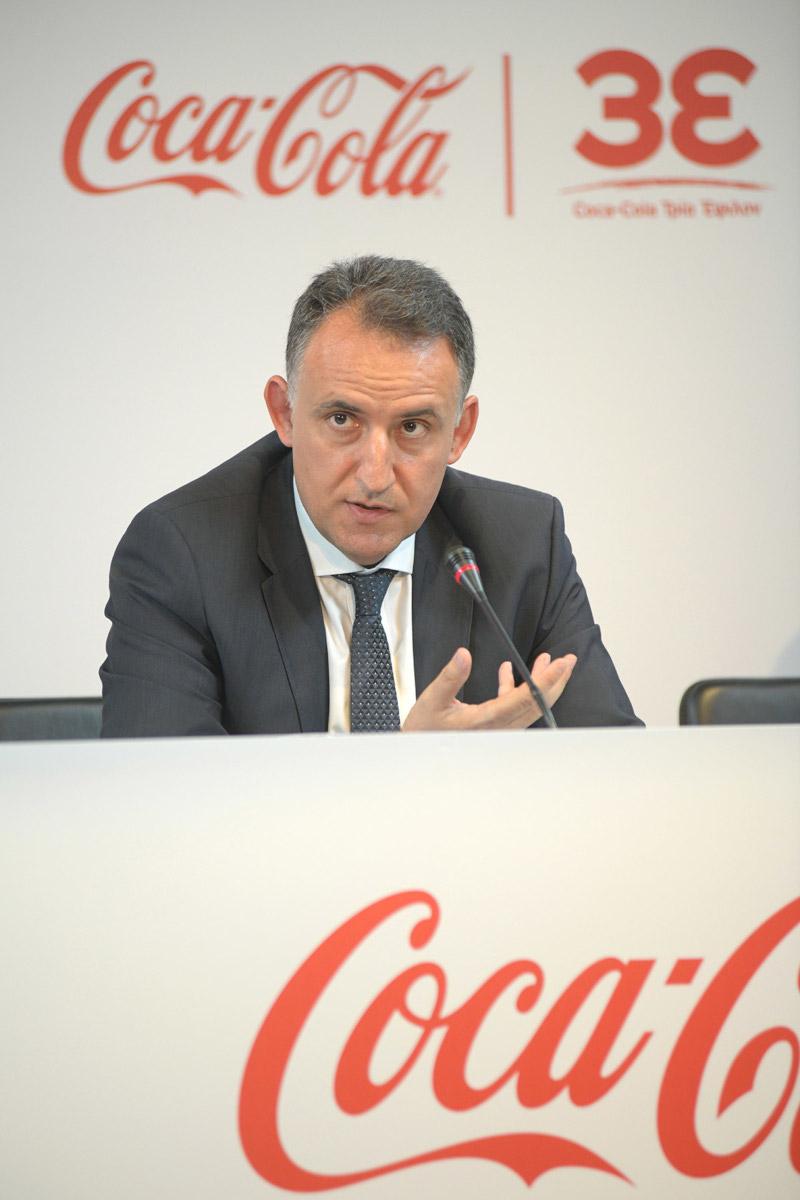 Ο κ. Γιάννης Παπαχρήστου, Γενικός Διευθυντής της Coca-Cola Τρια Έψιλον