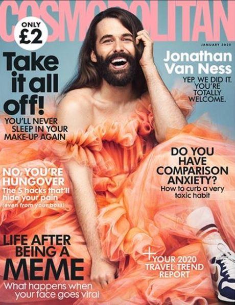 Το εξώφυλλο του Cosmopolitan με τον Τζόναθαν Βαν Νες