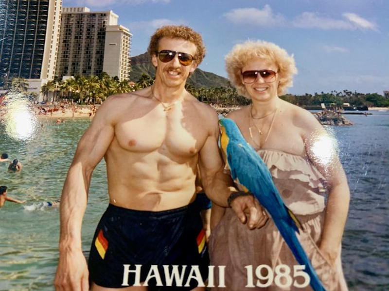 To ζευγάρι είχε παντρευτεί τον Απρίλιο του 1973 / Εδώ σε μια φωτογραφία από τις διακοπές τους στη Χαβάη το 1985