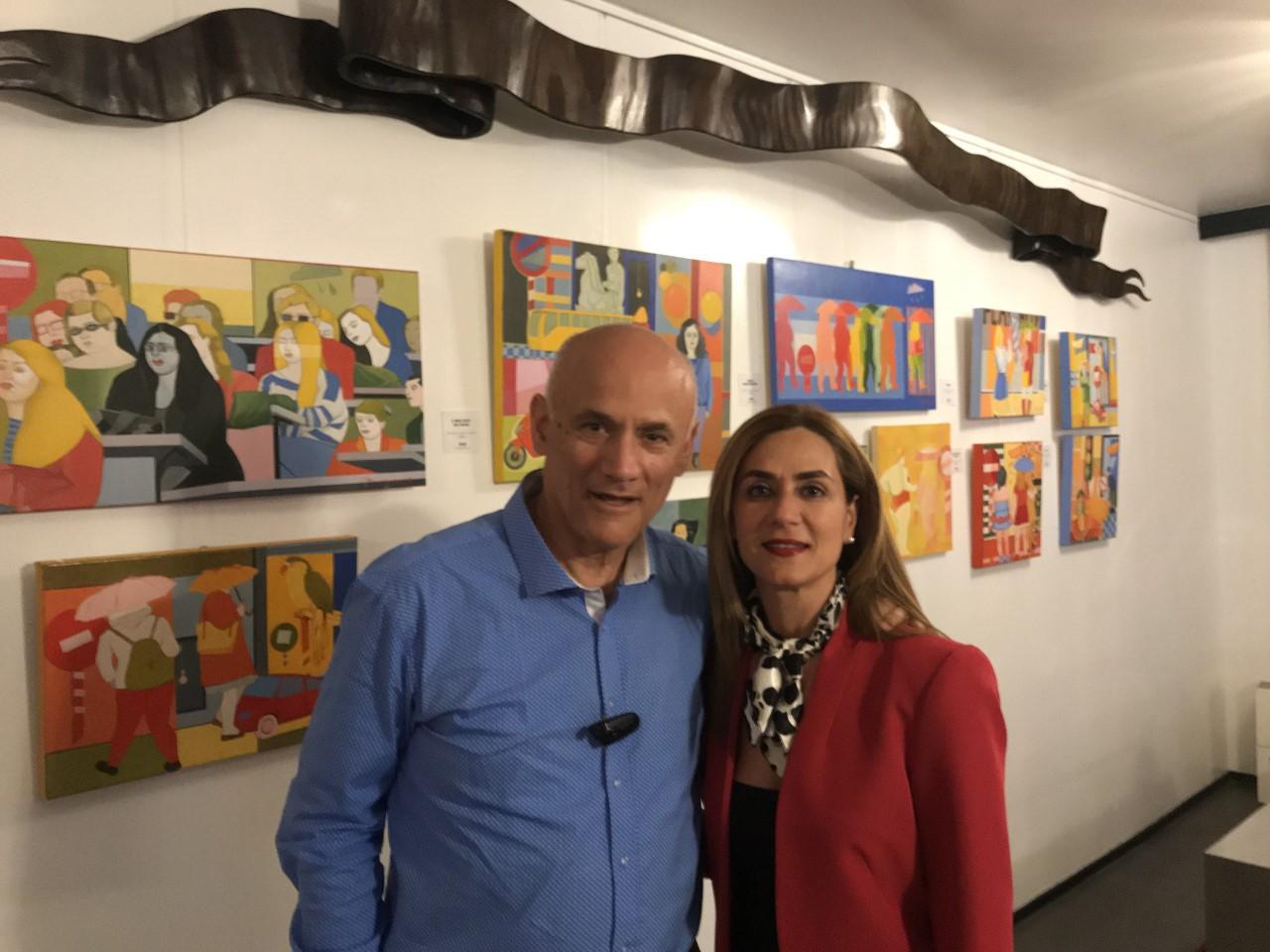 Κώστας Σπυρόπουλος με την κα Μαίρη Καρασούλη