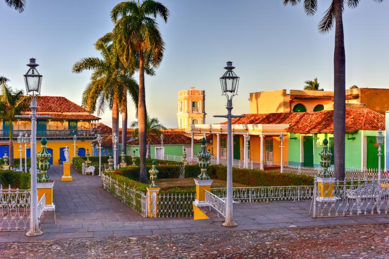 H χρωματιστή πλατεία Mayor