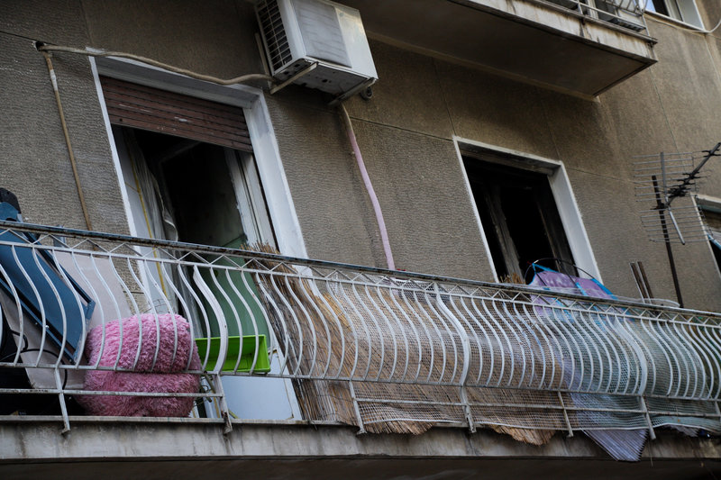 Το διαμέρισμα όπου έπιασε φωτιά