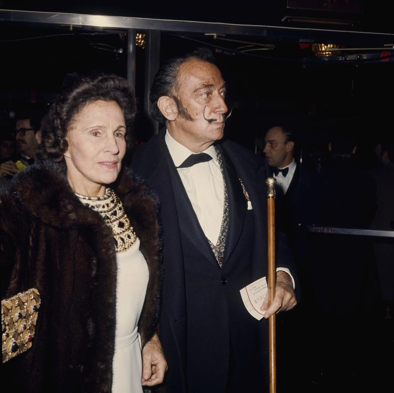 Ο Σαλβαντόρ Νταλί με τη σύζυγό του, Γκαλά