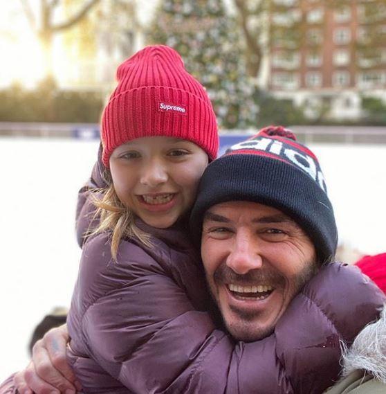 Ο Ντέιβιντ Μπέκαμ με την κόρη του Χάρπερ