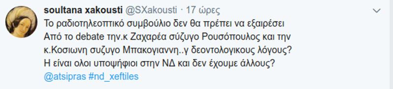 Καρφιά στο twitter εναντίον της Σίας Κοσσιώνη και Μάρας Ζαχαρέα