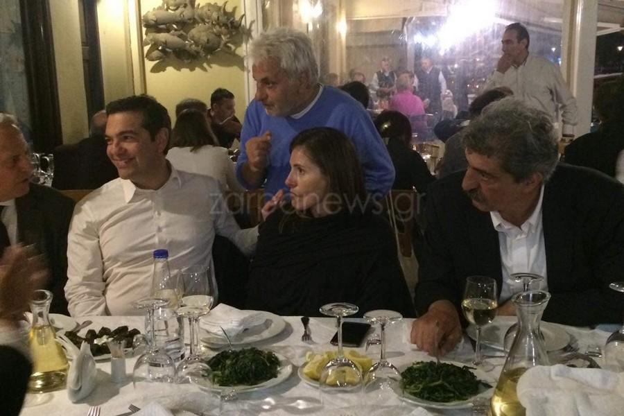 Αλέξης Τσίπρας, Μπέτυ Μπαζιάνα Παύλος Πολάκης