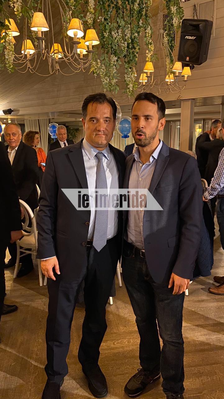 Ο Αδωνις Γεωργιάδης με τον Νίκο Ρωμανό, διευθυντή του γρ. Τύπου της ΝΔ