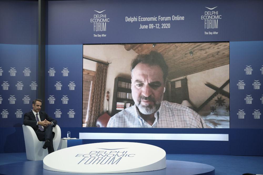 Η συζήτηση του Κυριάκου Μητσοτάκη με τον ιστορικό και συγγραφέα Νάιαλ Φέργκιουσον