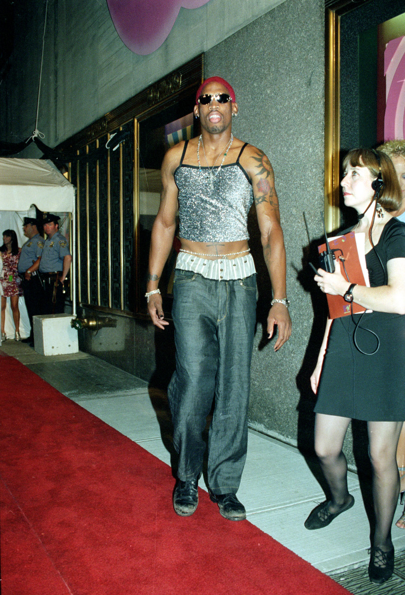Ο Ντένις Ρόντμαν στα MTV Video Music Awards το 1995