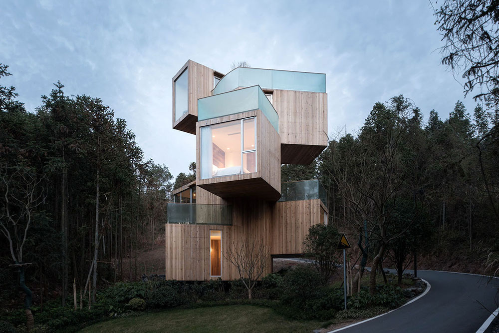 Το εντυπωσιακό δεντρόσπιτο Qiyunshan Tree House στην Κίνα