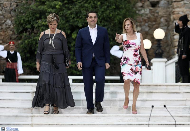 Ο αρχηγός της αξιωματικής αντιπολίτευσης Αλέξης Τσίπρας και η Ολγα Γεροβασίλη