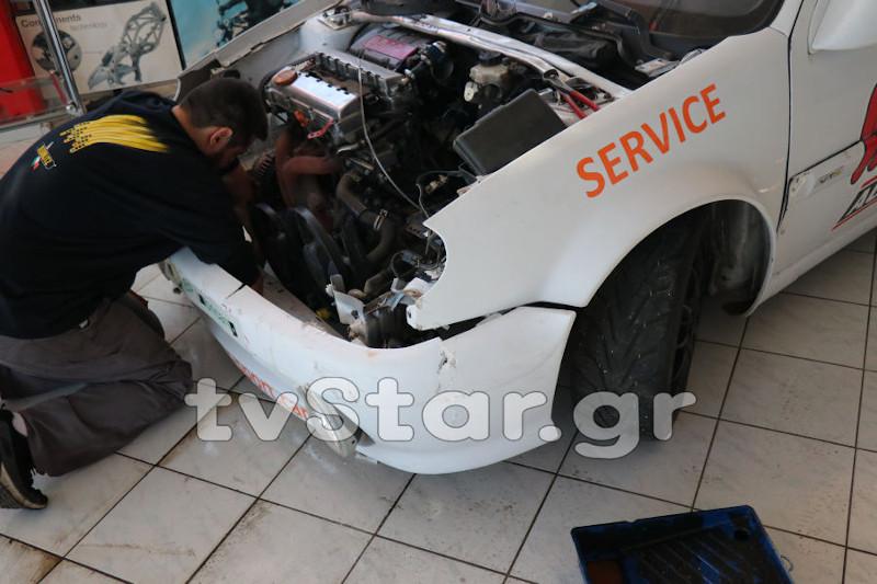 Οι δράστες προκάλεσαν υλικές ζημιές και σε όχημα που βρισκόταν στην βιτρίνα