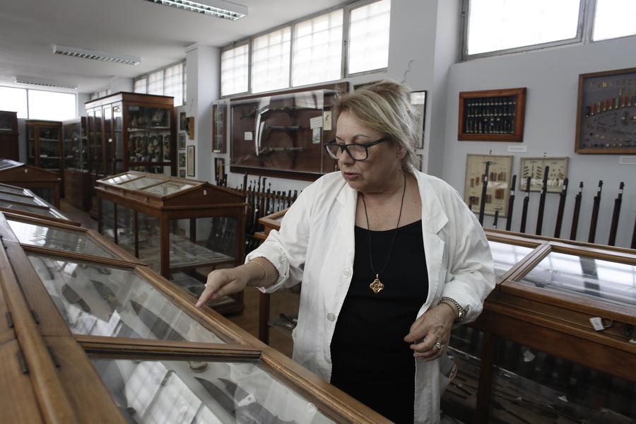 Η Μαρία Στεφανίδου - Λουτσίδου, διευθύντρια του Εγκληματολογικού Μουσείου και καθηγήτρια Τοξικολογίας