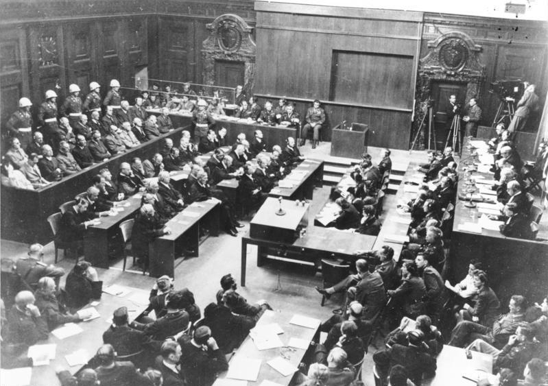 Η αίθουσα του δικαστηρίου στη Δίκη της Νυρεμβέργης